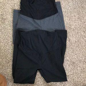 1 cropped 1 reg length legging